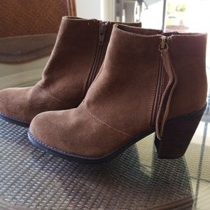 Suede leather booties Size 6.5